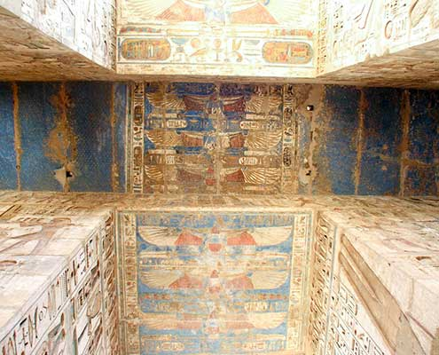 Totentempel von Pharao Ramses III. in Medinet Habu